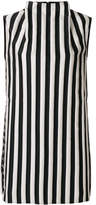 Marques Almeida Marques'almeida high neck striped dress