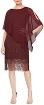 Slny Crochet Lace Fringe Cape Dress