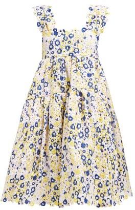 Cecilie Bahnsen Rue Floral Guipure-lace Knee-length Dress - White Multi