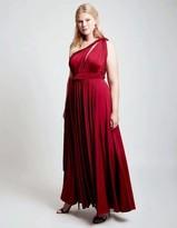 Two Birds Burgundy Convertible Ballgown Dress