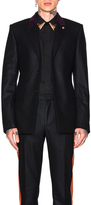 Givenchy Velvet Collar Single Breast Jacket