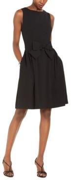 Tahari ASL Fit & Flare Bow Dress