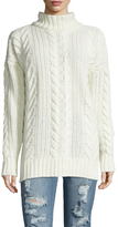 Anine Bing Chunky Wool Cable Knit Sweater