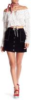 Honey Punch Studded Velvet Skirt