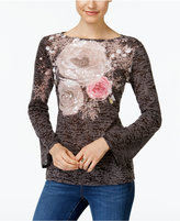 INC International Concepts Bell-Sleeve Burnout T-Shirt, Only at Macy's