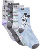 Disney Women's 4-Pk. Assorted Mickey Mouse Crew Socks