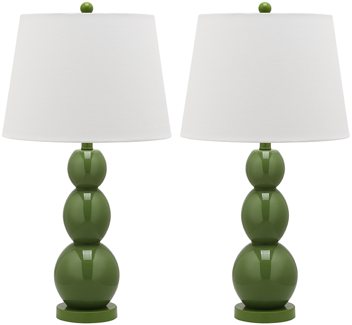Safavieh Fern Green Dean Lamp - Set of Two