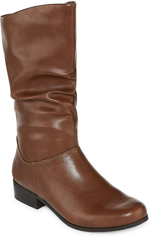 757359615 Round Toe Slouch Boots - ShopStyle