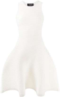 DSQUARED2 sleeveless panelled A-line dress