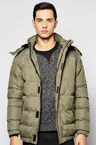 Boohoo Hooded Quilted Parka Jacket