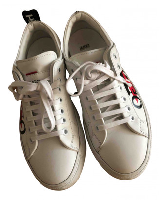 HUGO BOSS White Leather Trainers