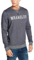 Wrangler Men's Logo Crew Sweat Navy Sweatshirt