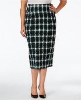 Melissa McCarthy Trendy Plus Size Plaid Pencil Skirt