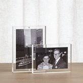 Crate & Barrel 2-Piece Acrylic Block Picture Frame Set