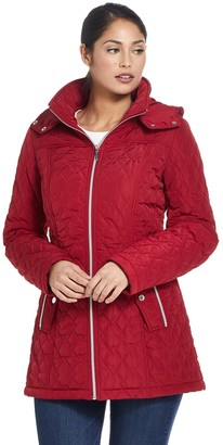 Gallery Women's Hooded Quilted Walker Jacket