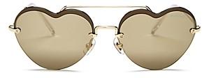 Miu Miu Women's Brow Bar Heart Sunglasses, 58mm