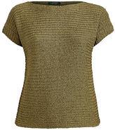 Ralph Lauren Woman Boatneck Short-Sleeve Sweater