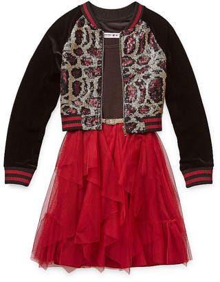 Knitworks Knit Works Girls 2-pc. Jacket Dress - Big Kid