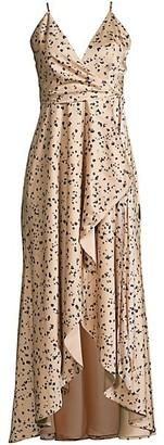 Fame & Partners Laurice Splatter Slip Dress