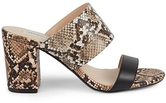 Saks Fifth Avenue Ella Snakeskin-Embossed Leather Mule Sandals