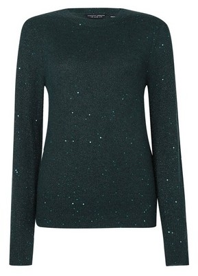 Dorothy Perkins Womens Green All Over Sequin Jumper, Green