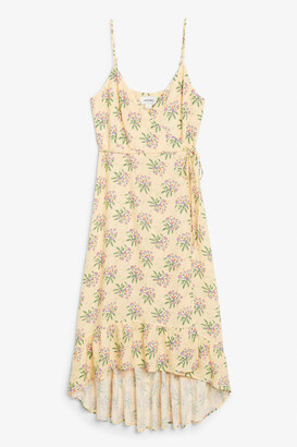 Monki Spaghetti strap wrap dress