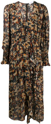 IRO Abstract-Print Flared Dress