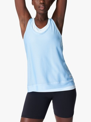 Sweaty Betty Double Time Gym Vest, Ice Blue