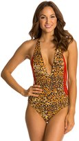 Indah Pagoda Reversible Crochet Side One Piece Swimsuit 8132243