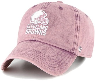 Women's '47 Purple Cleveland Browns Snow Cone Clean Up Adjustable Hat