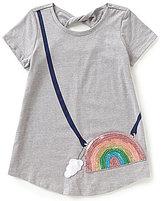 Jessica Simpson Big Girls 7-16 Katelyn Rainbow Purse-Graphic Tee