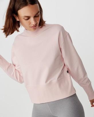 Cotton On Body Active Zip Back Fleece Crew