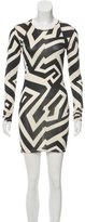 Gareth Pugh Geometric Print Silk Dress
