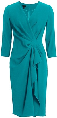 Escada Drahna Knotted Crepe Dress