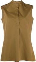 Aspesi mandarin collar sleeveless blouse