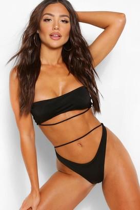 boohoo Skinny Strap Bikini