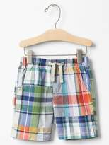 Gap Plaid pull-on shorts