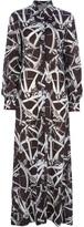 Ken Scott Vintage geometric print maxi dress