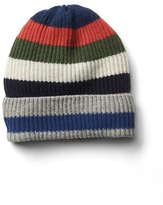 Gap Crazy stripe merino wool blend beanie