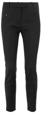 HUGO BOSS Slim Fit Pants With Zipped Hems - Black