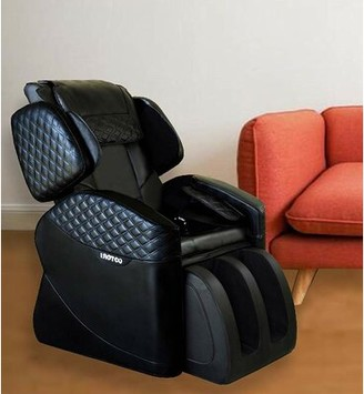 Shiatsu Luxurious Electric Reclining Adjustable Width Heated Full Body Massage Chair Ootori Massage Chairs Upholstery Color: Black