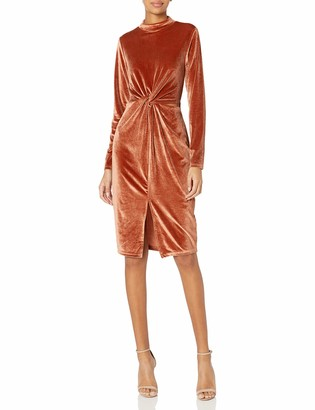 MinkPink Women's Canyon Velvet Twist Dress