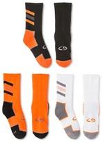 Champion Boys' 3-Pack Crew Athletic Socks Orange