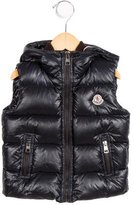 Moncler Girls' Hooded Down Vest