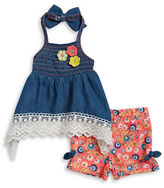 Little Lass Baby Girls Baby Girls Smocked Tunic and Floral Shorts Set