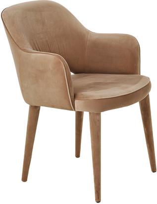 Pols Potten Cosy Velvet Chair - Beige