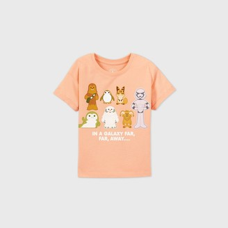 Star Wars Girls' Galaxy's Edge 'In a Galaxy Far Far Away' Short Sleeve Graphic T-Shirt - Blush