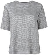 M Missoni metallic T-shirt - women - Cotton/Polyamide/Polyester/Metallic Fibre - XS