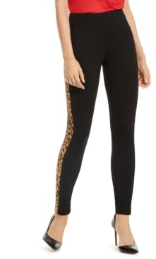 INC International Concepts Inc Animal-Print Stripe Skinny Pants, Created for Macy's