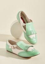 B.A.I.T. Footwear Kiltie With Kindness T-Strap Flat in 7.5